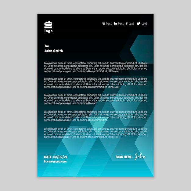 Plantilla de membrete comercial general Vector Premium