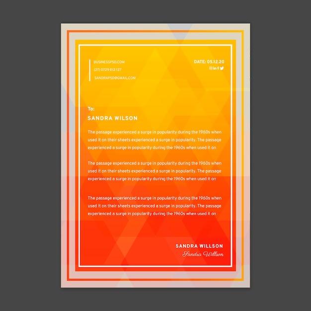 Plantilla de membrete de empresaria Vector Premium