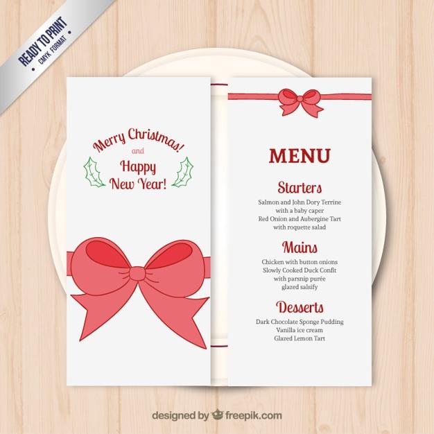 Plantilla Menú de Navidad | Descargar Vectores gratis