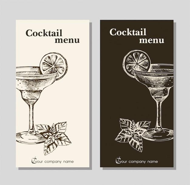 Plantilla de menú para restaurante cafetería y bar Vector Premium