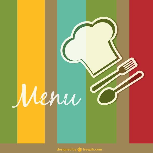 Plantilla de menú de restaurante de colores vector gratuito
