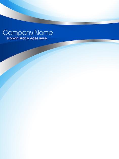 Plantilla modera azul de flyer empresarial Vector Gratis