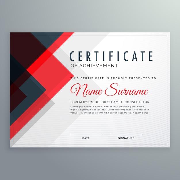 Plantilla moderna de certificado de logro | Descargar Vectores Premium