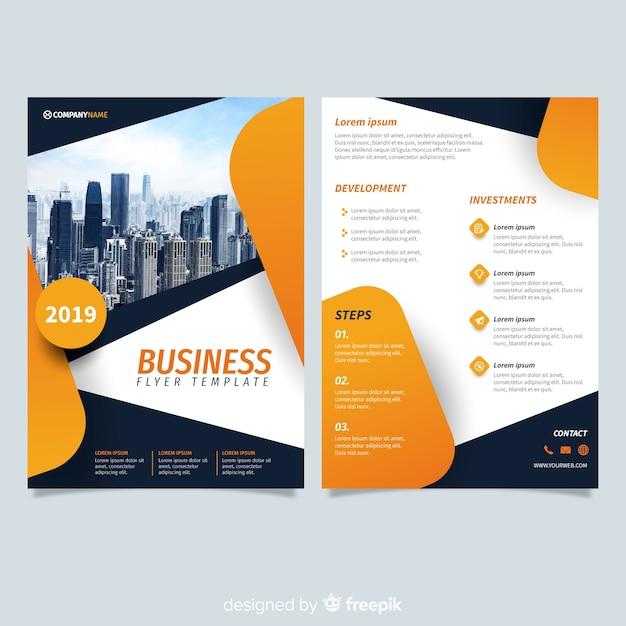 e4e2efd4bb5c0 Plantilla moderna de folleto de negocios con diseño abstracto ...