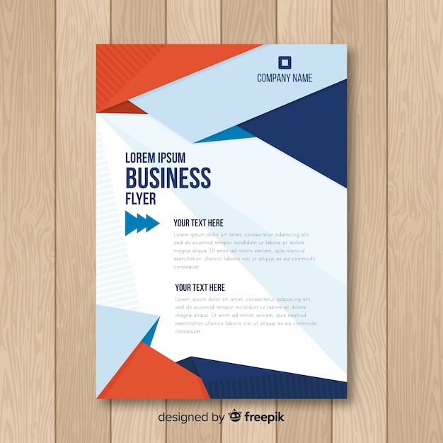 d107394f019c3 Plantilla moderna de folleto de negocios con diseño plano ...