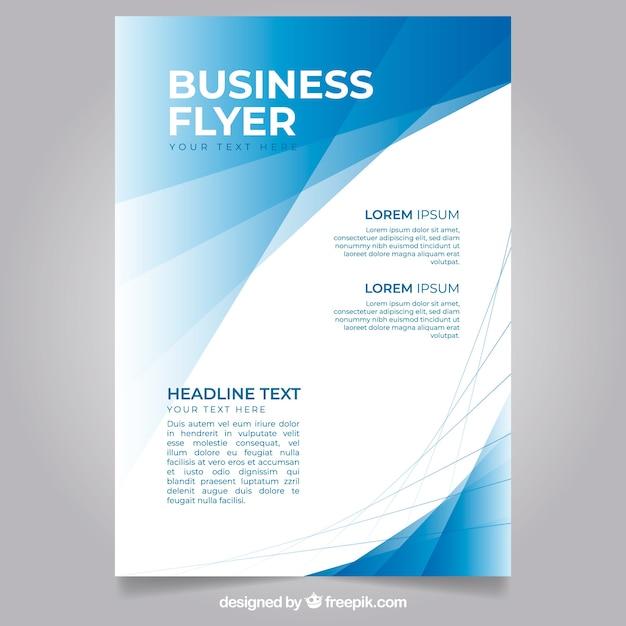 Plantilla moderna de folleto de negocios vector gratuito