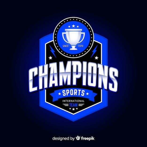 Plantilla moderna de logo de deportes con diseño abstracto vector gratuito