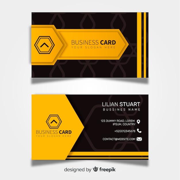 Plantilla moderna de tarjeta de visita con diseño abstracto vector gratuito