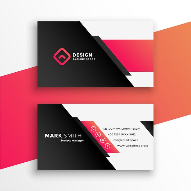 Plantilla moderna de tarjeta de visita geométrica abstracta vector gratuito