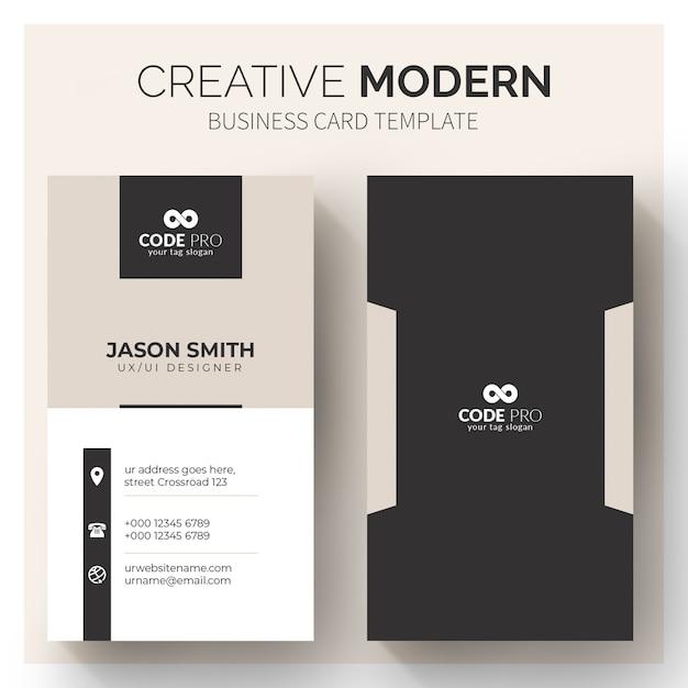 Plantilla moderna de tarjetas de visita vector gratuito