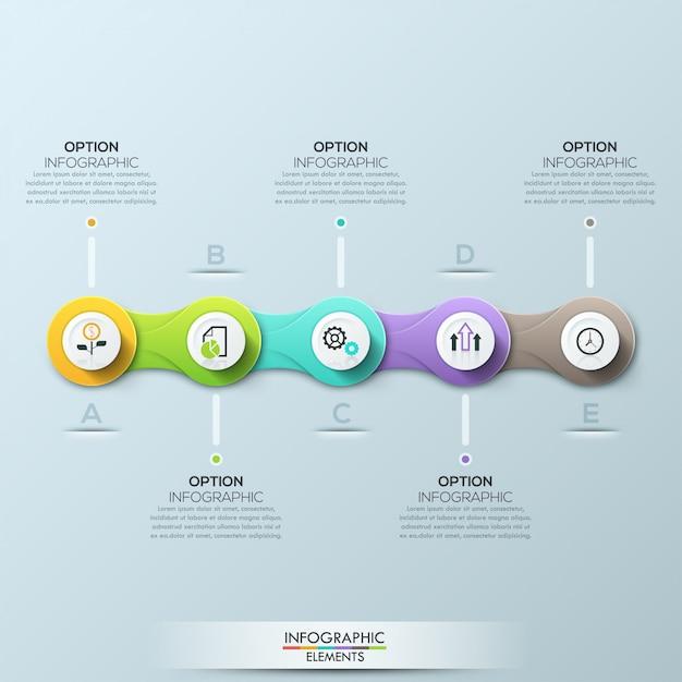 Plantilla de negocio círculo moderno ilustración vectorial Vector Premium