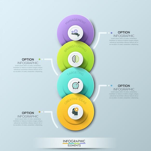 Plantilla de negocio círculo moderno Vector Premium