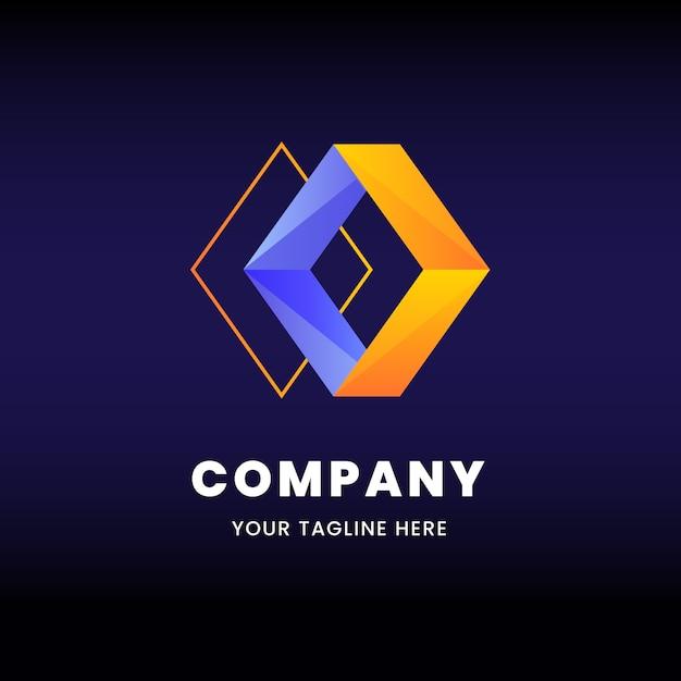 Plantilla de negocio de logo de formas de diamante vector gratuito