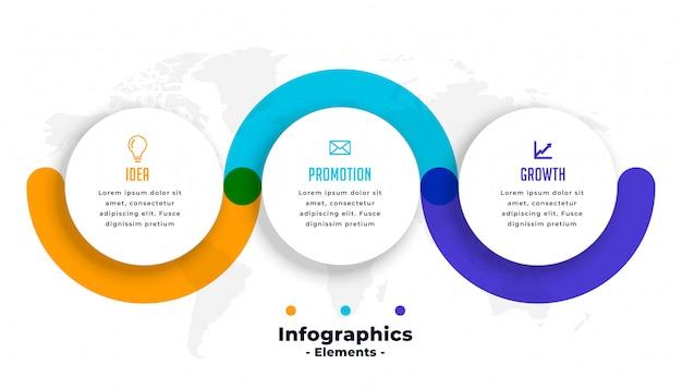 Plantilla de negocio de pasos de infografía vector gratuito