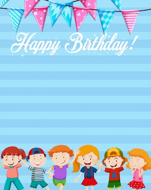Una plantilla de nota de cumpleaños vector gratuito