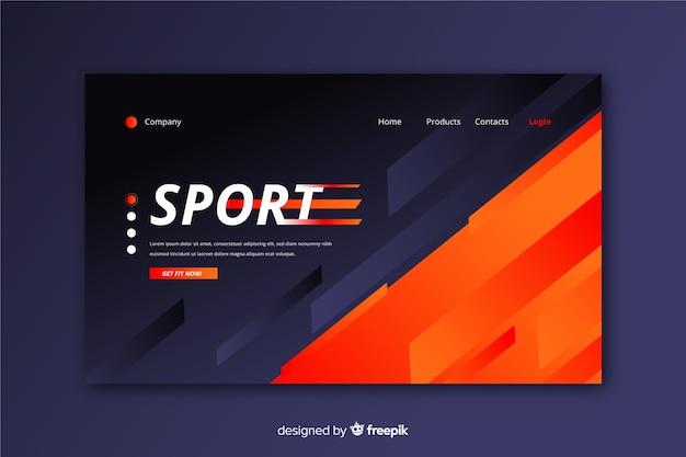 Plantilla de página de aterrizaje deportiva moderna vector gratuito