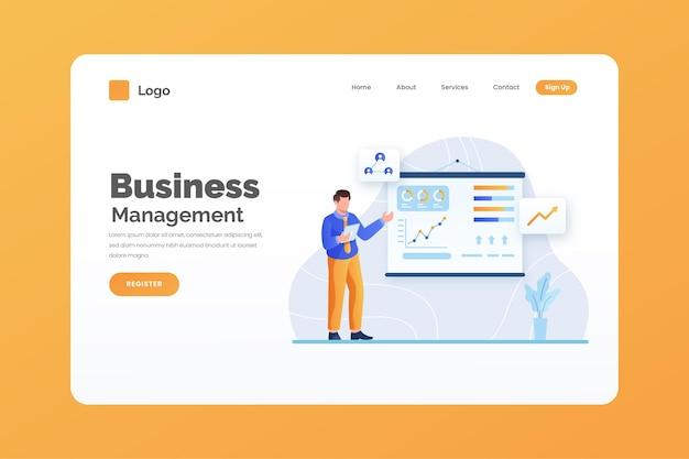 Plantilla de página de destino empresarial vector gratuito