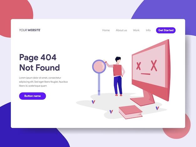 Plantilla de página de destino del error 404 Vector Premium