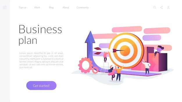 Plantilla de página de destino del plan de negocios vector gratuito