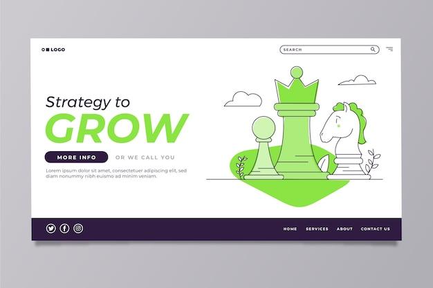 Plantilla de página de inicio moderna con ilustración vector gratuito