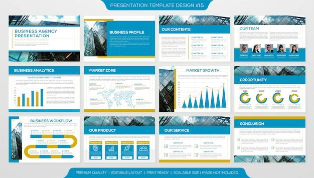 Plantilla de página de presentación Vector Premium