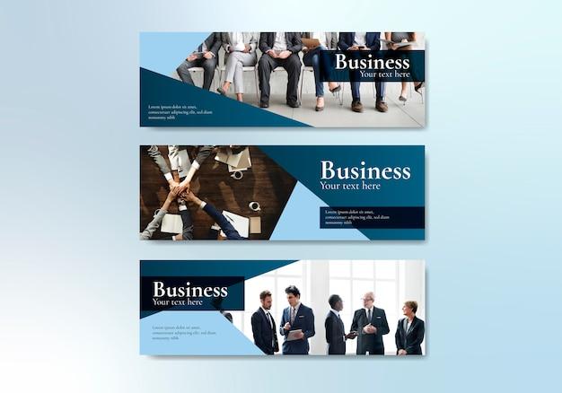 Plantilla de página web de negocios vector gratuito