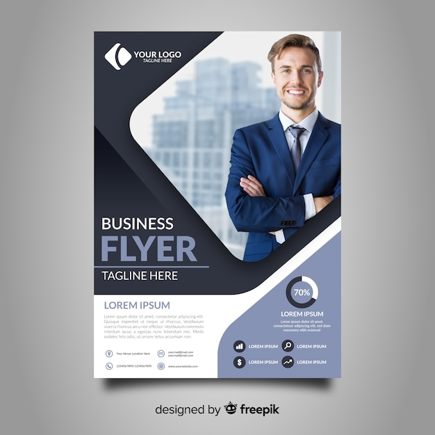 Plantilla de panfleto de negocios vector gratuito