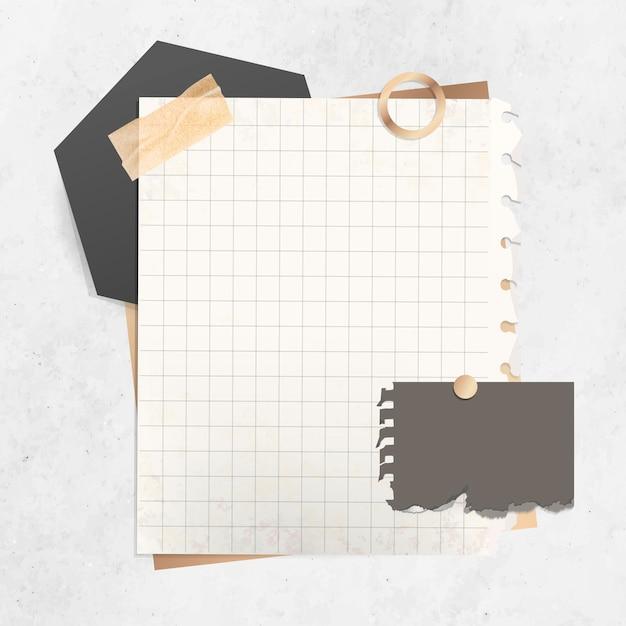 Plantilla de papel cuadriculado vector gratuito