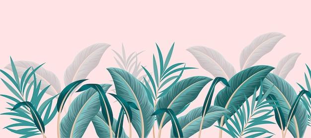 Plantilla de papel tapiz mural tropical vector gratuito