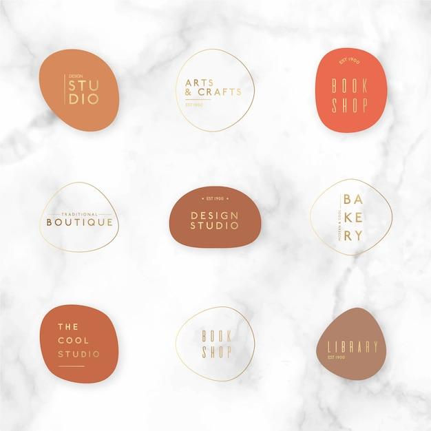 Plantilla de paquete de logotipo minimalista vector gratuito