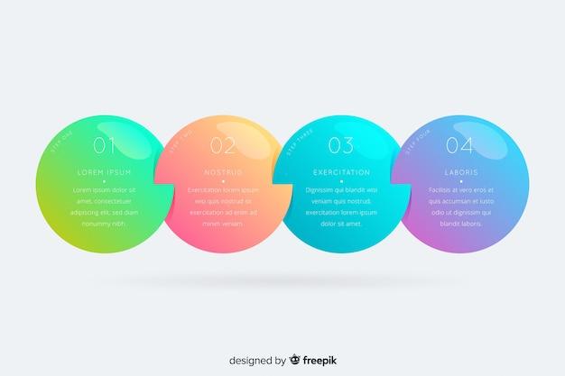 Plantilla pasos infografía diseño plano vector gratuito