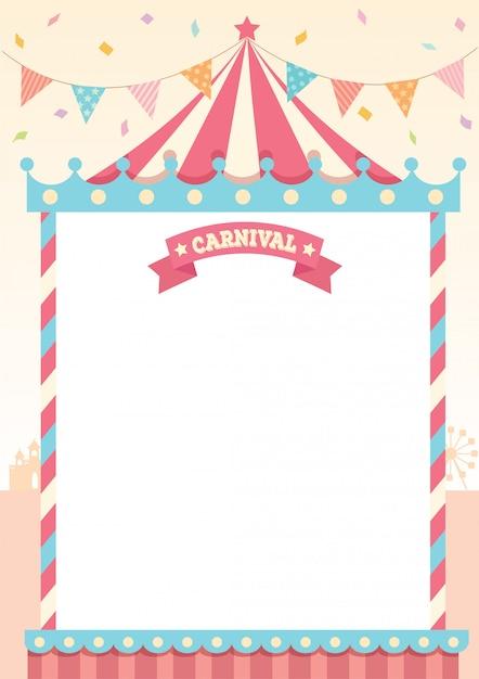Plantilla de pastel de carnaval Vector Premium
