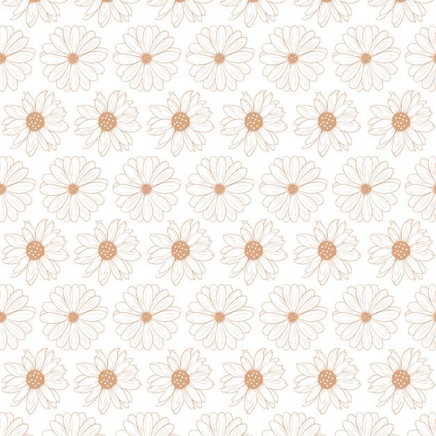 Plantilla de patrón abstracto floral Vector Premium