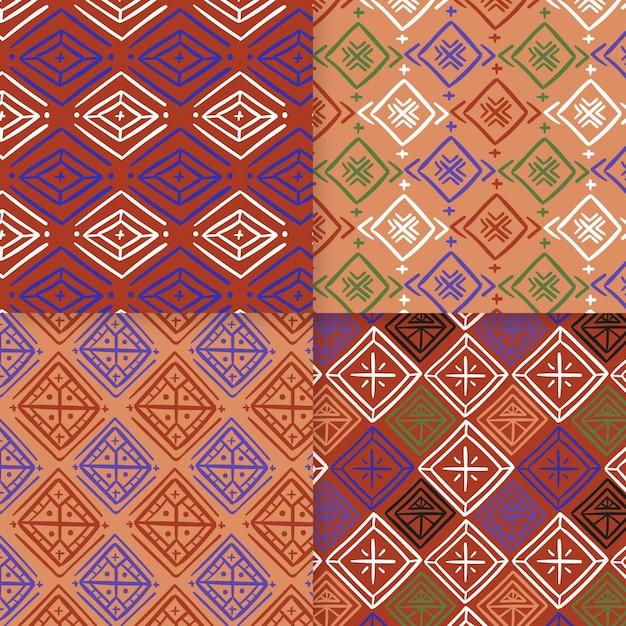 Plantilla de patrón sin costuras songket tradicional vector gratuito