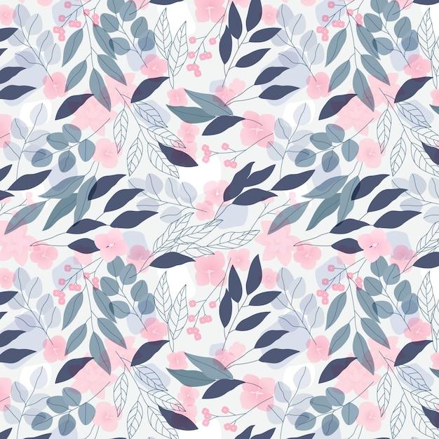 Plantilla de patrones sin fisuras florales de color pastel Vector Premium