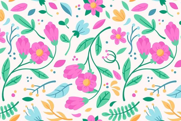 Plantilla de patrones sin fisuras florales rosa vector gratuito