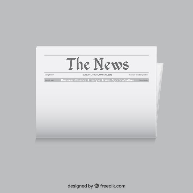 Plantilla periódico | Descargar Vectores gratis