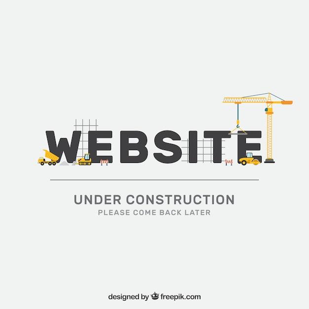 Plantilla plan en construcción vector gratuito
