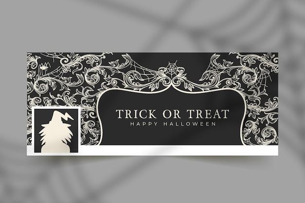 Plantilla de portada de facebook de halloween vector gratuito