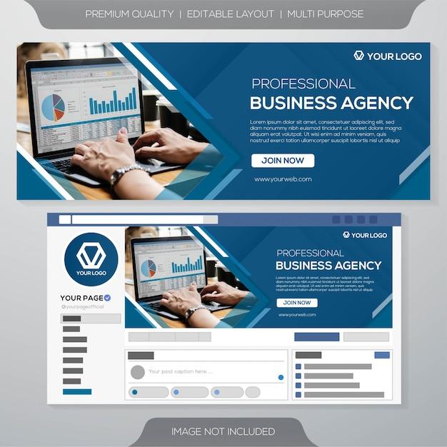 Plantilla de portada de redes sociales Vector Premium