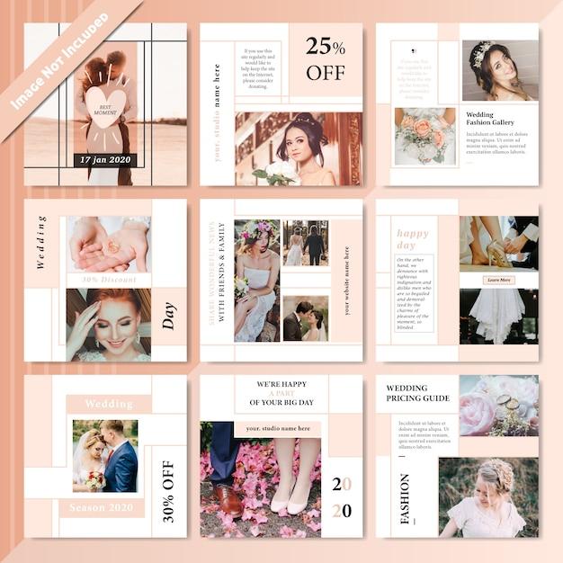 Plantilla de post de venta de productos de medios sociales de moda Vector Premium