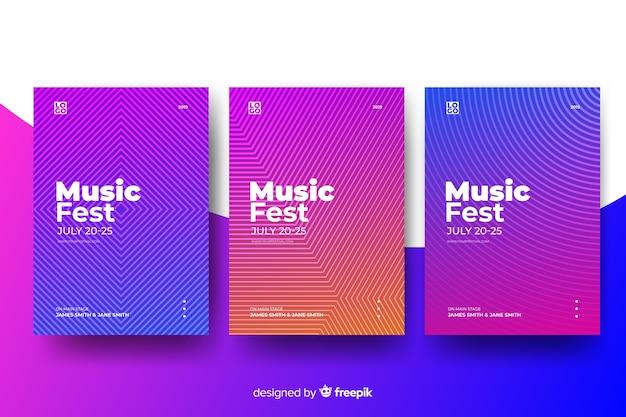 Plantilla de póster abstracto de música vector gratuito