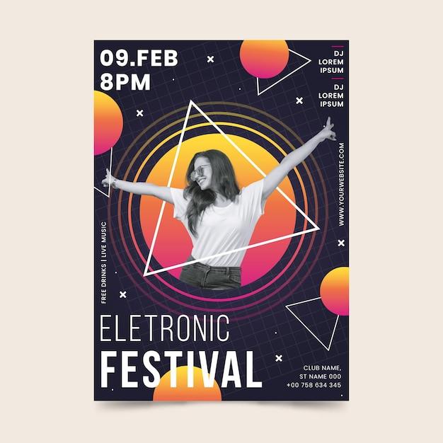 Plantilla de póster del evento musical 2021 vector gratuito