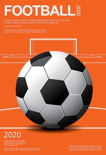 Plantilla de póster de fútbol soccer Vector Premium