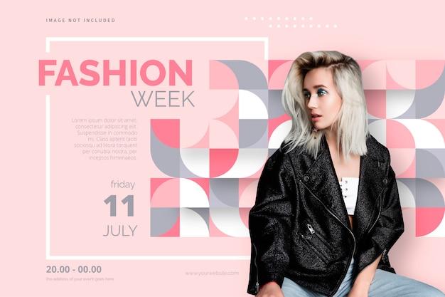 Plantilla de póster de moda elegante vector gratuito