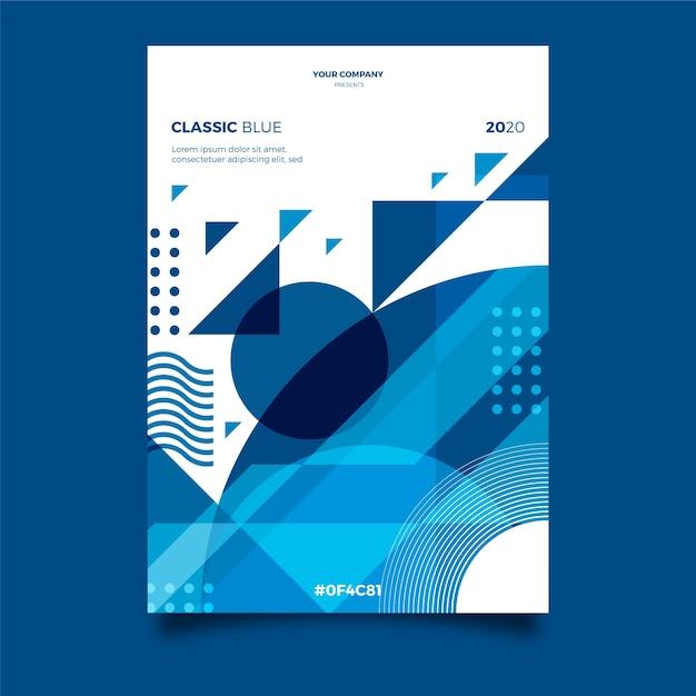 Plantilla de póster / volante abstracto vector gratuito