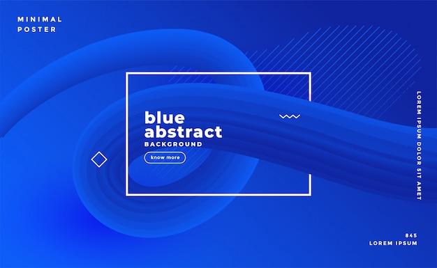 Plantilla de presentación abstracta azul moderna vector gratuito