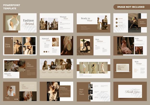 Plantilla de presentación de diapositivas minimalistas de moda Vector Premium