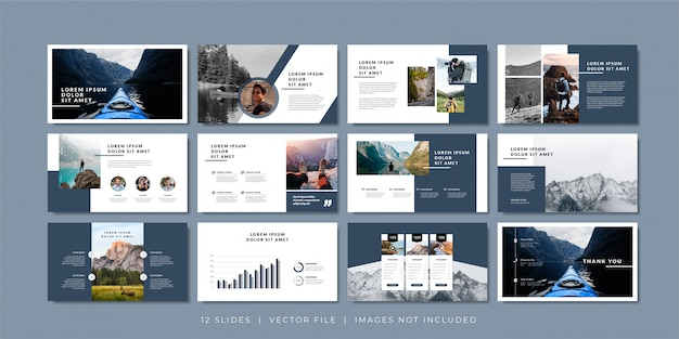 Plantilla de presentación de diapositivas mínimas. Vector Premium