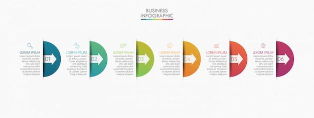 Plantilla de presentación empresarial infografía Vector Premium